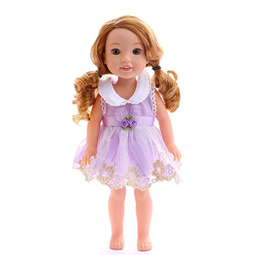 Wensltd Chirstmas Clothes Dress for 18 Inch American Girl Doll Accessory Girl Toy (Purple 2)]()
