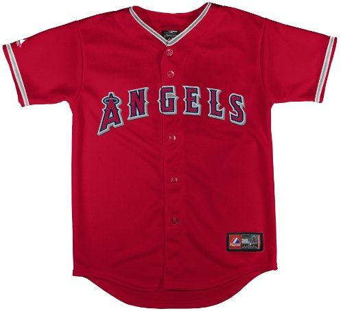 MLB Los Angeles Angels Alternate Replica Jersey, Scarlet, Small – DiZiSports Store