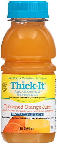 Thick-It Aquacare H2O Nectar Consistency Pre-thickened Orange Juice, 8 Ounce (Pack of 24)
