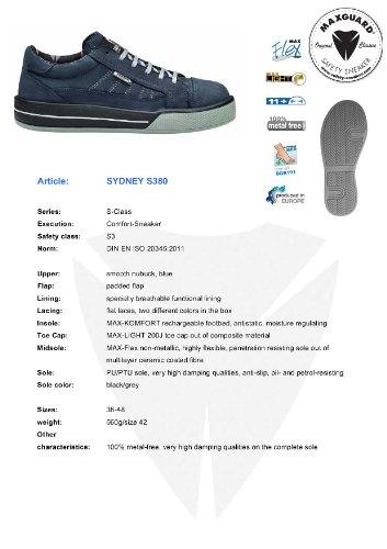 Chaussures Homme Maxguard blau De Blau S380 Sydney Sécurité XwXxqrERT