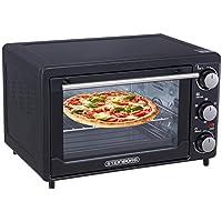 Mini Backofen 25 Liter | Pizza-Ofen | 3in1 Backofen mit Umluft | Minibackofen | Innenbeleuchtung | Temperatur 100-250°C | herausnehmbares Krümelblech | Ober-/Unterhitze | 60 min.Timer | 1600 W.