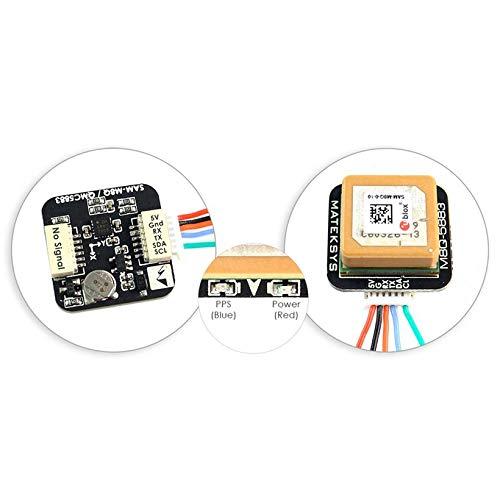Wikiwand Matek Systems M8Q5883 Ublox SAMM8Q GPS Module with Drone QMC5883L Compass