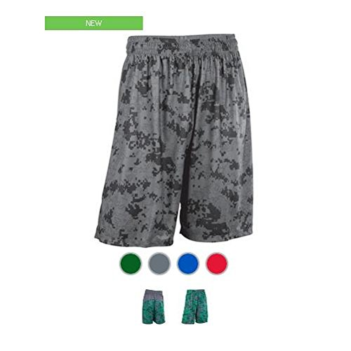 Graphite Adult 3-XXXL CAMO Moisture Wicking Athletic Shorts