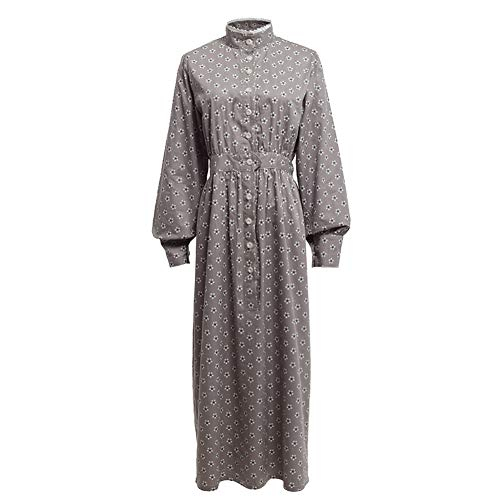 GRACEART Pioneer Women Costume Prairie Dress Grey (Pure Cotton) XX-Large -