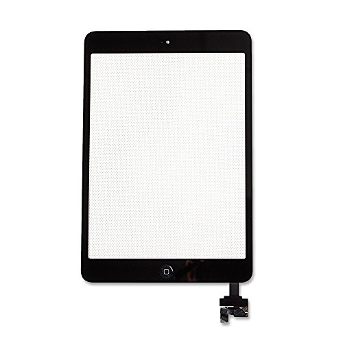 Ayake For iPad Mini/iPad Mini 2 Digitizer Screen Replacement Black 7.9'' Full LCD Display Assembly with IC Chip Flex Cable, Home Button, Camera Bracket Pre Assembled, Adhesive and Repair Tool Kits by Ayake (Image #2)