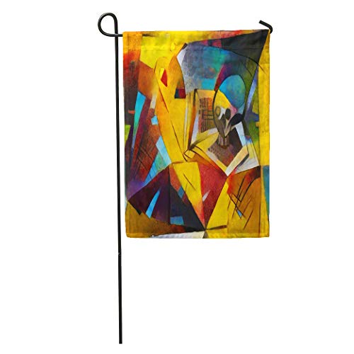 Semtomn Garden Flag Alternative Reproductions of Famous Paintings by Picasso Applied Abstract Kandinsky Home Yard House Decor Barnner Outdoor Stand 28x40 Inches Flag ()