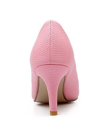 GGX/ Damen-High Heels-Lässig-Kunststoff-Kitten Heel-Absatz-Spitzschuh / Geschlossene Zehe-Schwarz / Rosa / Rot / Weiß white-us8 / eu39 / uk6 / cn39