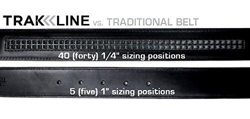 KORE-Mens-Track-Belt-Intrepid-Stainless-Steel-Buckle-Full-Grain-Leather-Belt