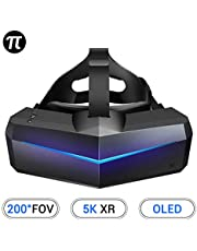 Pimax 5K XR OLED VR Virtual Reality Headset with Wide 200°FOV, Dual 2560x1440p OLED Panels & 6 DOF Tracking, 1-Year Warranty, [Headset Only]