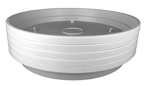 Stacky Plant Saucers – 11″ Planter Tray – Excellent For Flowers And Household Plants (5, Stone)