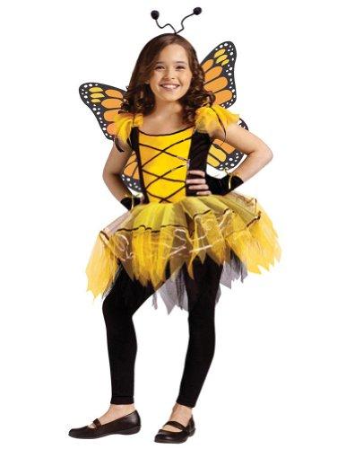 (Girl's Gold Ballerina Butterfly Costume -)