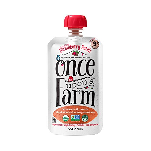 Once Upon a Farm Sun Shiny Strawberry Patch, 3.5 Ounce (Pack of 8)