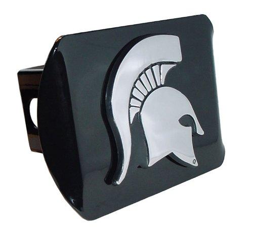 (Elektroplate Michigan State Spartan Head Black Standard Metal Hitch Cover)