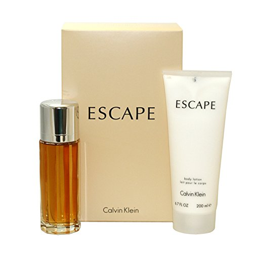 Calvin Klein Escape gift set (eau de parfum spray & body lotion) for women, 3.4 Fl. Oz, 2 Piece