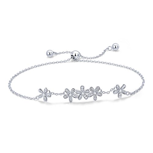 WOSTU Friendship Bracelets 925 Sterling Silver Link Bracelets for Women Anniversary Birthday for Her