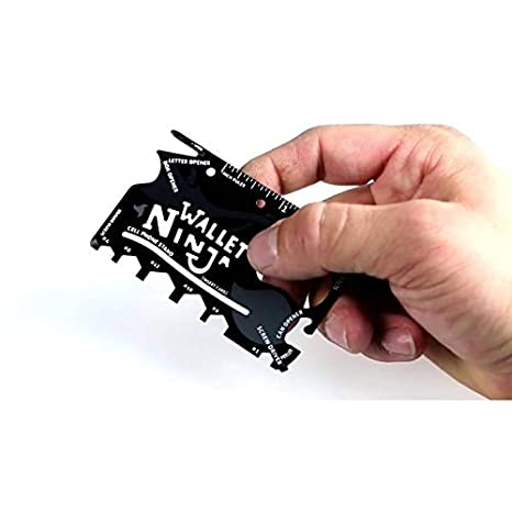 18 en 1 kit pack set multi herramienta de cartera multifunción supervivencia emergencia ninja wallet ninja tarjeta ninja mws1048