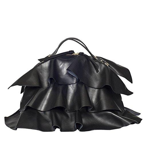 Leder Damen Borbonese Schwarz 954834400100 Handtaschen wtAWdAcTq