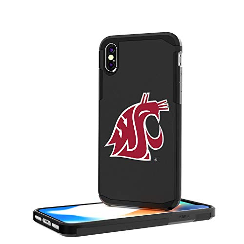 Keyscaper WSU Washington State Cougars Insignia Rugged Case for iPhone X ()