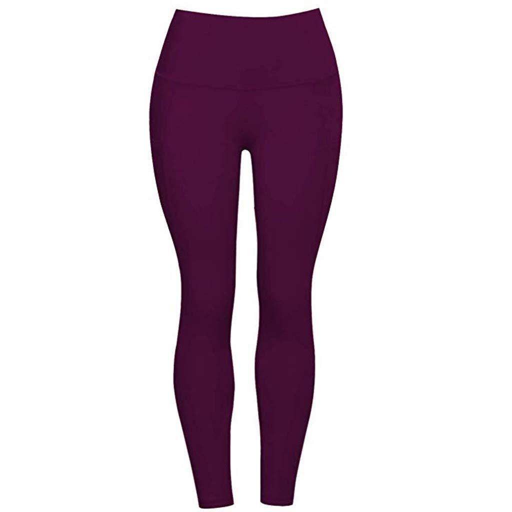 Mujer Pantalones Mallas Mujer Fitness El/ásticos Mallas Moda Pantalones Color s/ólido Leggings Slim Fit Mayas Secado rapido Largos Pantalones Gym Yoga Cintura Alta Deportivos Aptitud Pants vpass