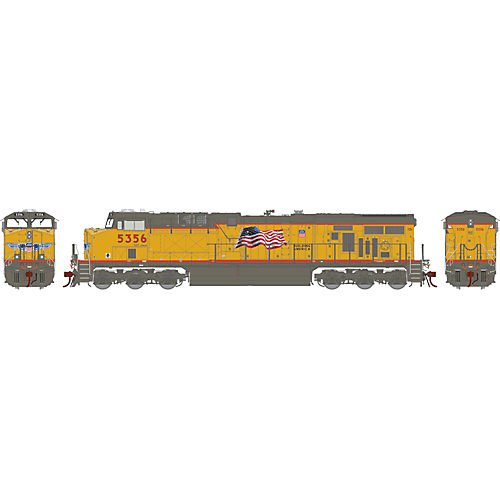 HO ES44AC w/DCC & Sound, UP/Flag/Red Sill #5374 -  Athearn