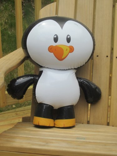 Set of 2 Adorable Inflatable Penguin Pals, each 24 inch / Party / Favor / Decor / Prize/ Giiveawayy (Penguin Pals)