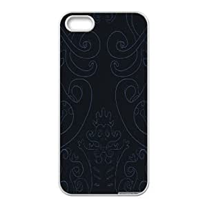 Case for IPhone 5,5S, Dark Vector Art Case for IPhone 5,5S, Vinceryshop White