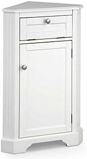 Weatherby Bathroom Corner Storage Cabinet (White)  sc 1 st  Amazon.com & Amazon.com: White Corner Floor Storage Cabinet with Shutter Door ...