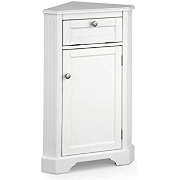 Weatherby Bathroom Corner Storage Cabinet White Office Products