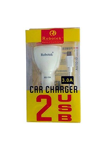 PM TRADERS Robotek Car Charger  2 USB