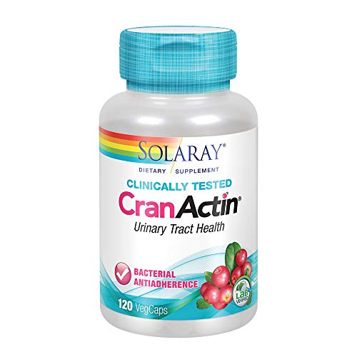 Solaray CranActin Cranberry Extract Bacterial Anti-Adherence Formula | Healthy Urinary Tract & Bladder Support | Vitamin C Immune Boost | 120 ()