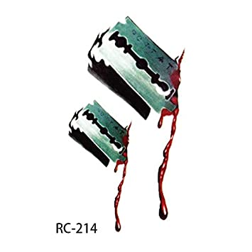 46f0a493a1df1 Horror Realistic Fake Bloody Wound Stitch Scar Scab Temporary Tattoo Sticker  Halloween Masquerade Prank Makeup Props