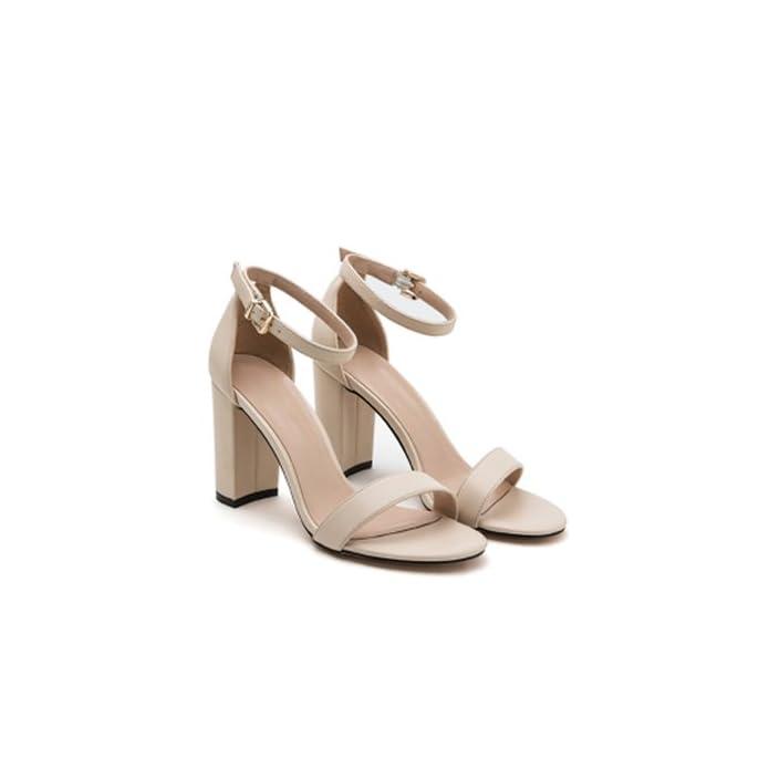 Flyrcx Estate Lady Del Tacco Ruvida Shallowly Fashion Sandali Alto Scarpe Di Partito