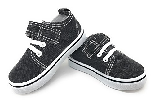 EASY21 Infant Toddler Boat Shoes Loafer Kids Shoes Slip-On,Black Denim81,Size (Toddler Shoe Size)