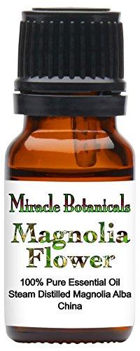 Miracle Botanicals Magnolia Flower Essential Oil - 100% Pure Magnolia Alba - Therapeutic Grade - 10ml