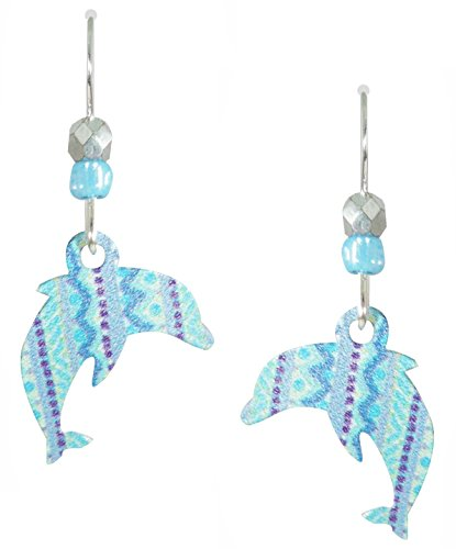 - Sienna Sky UV-Printed Etched Dolphins in Shades of Blue Earrings 2014