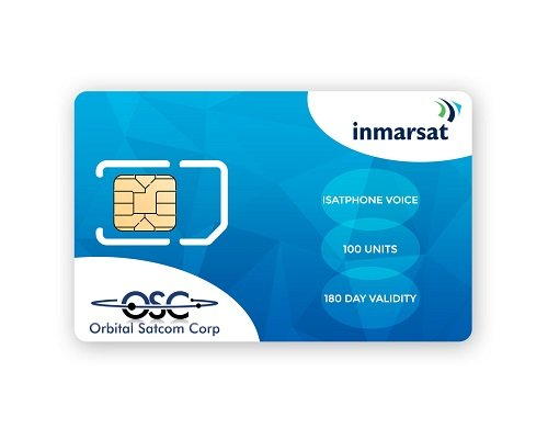 Inmarsat IsatPhone Pro and IsatPhone 2 Prepaid SIM Card with 100 airtime units (76.8 Minutes*) includes FREE SIM card From Orbital Satcom - Two Sim Card