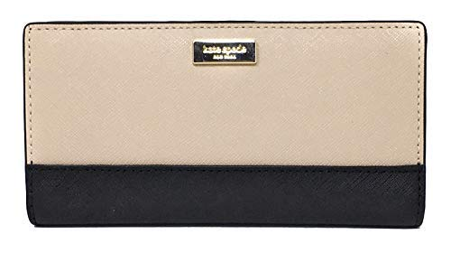 Kate Spade New York Laurel Way Stacy Leather Wallet (Warm Beige/Black)