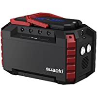 Suaoki 150Wh 40 500mAh Portable Solar Generator w/ 2AC Outlets & 4 USB Ports