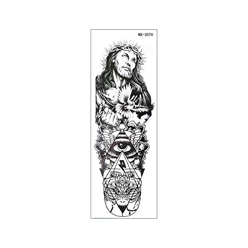 Large Arm Temporary Tattoo Sticker Rose Fake Tatoo Sleeve Flash Tatto Waterproof Big Body Art Men Women MX#02 MX-3074