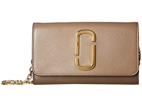Marc Jacobs Women's Snapshot Wallet on Chain, French Grey Multi, One Size (Marc Jacobs Beige)