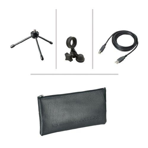 418PIia3PGL - Audio-Technica AT2020USB+ Cardioid Condenser USB Microphone, Black