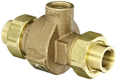 "Apollo 404A33AM Bronze Dual Check Valve with Atmospheric Port, 1/2"" NPT Female from Conbraco"