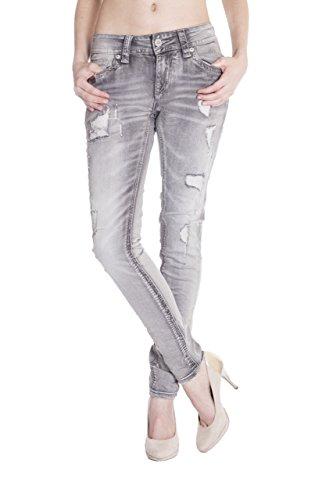 Jeans Femme Blue Monkey Uni Skinny Jeans Gris 5AxfXqrAw