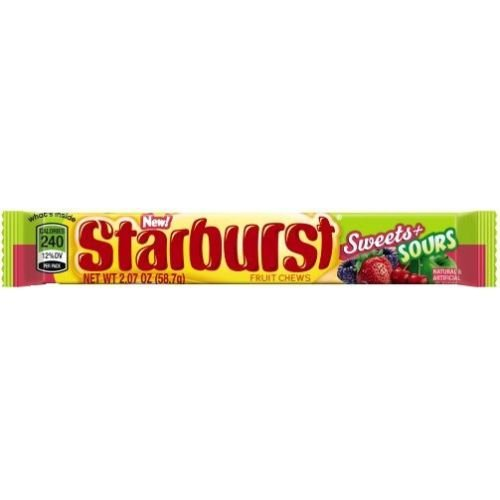 Starburst Sweets and Sours Fruit Chews, 2.07 Ounce -- 288 per case. by Starburst