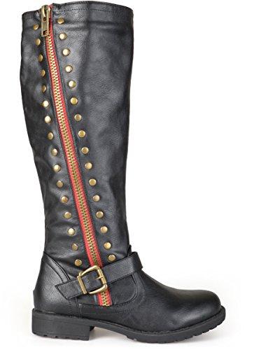 Brinley Co Women's Whirl Knee High Boot, Black, 10 Regular US from Brinley Co