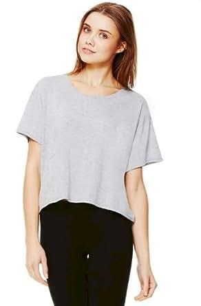 Amazon.com: Boxy cropped active short sleeve womens tee