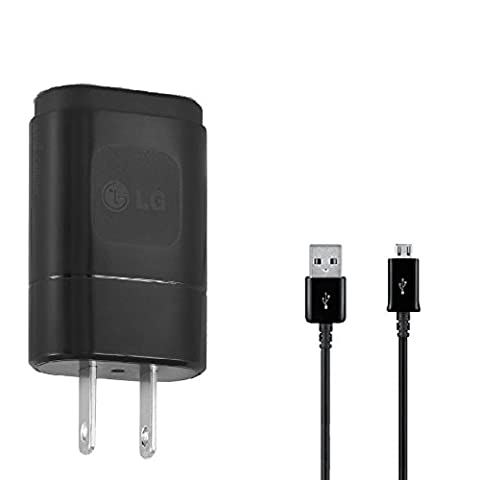 OEM Samsung Galaxy Fame Lite Duos Compact 1.8A Wall Charger with 3ft MicroUSB Charing and Data Cable! (Black / (Samsung Fame Lite Duos)