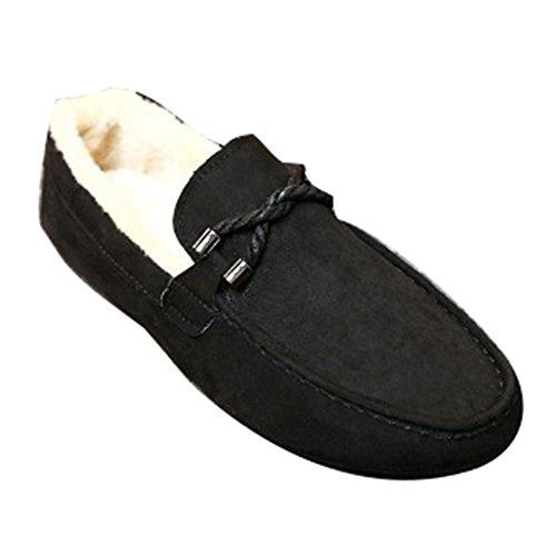 Loafers Slippers Mokassin Wildleder 40 Grau 39 43 Schwarz 44 Warm  Hausschuhe Hibote Winter Mokassins 42 ... 50d4adf322