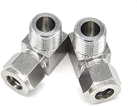 5Pcs ZG 1//8 3//8 1//4 1//2 Stainless Steel 304 Elbow Ferrule Tube Fitting Connector 6 8 10mm Right Angle Type Pipe Joint Color : 8mm Tube, Thread Specification : 1//4