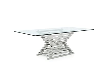 069fdc5d5fb5 Limari Home The Penrod Collection Modern Chrome Stainless Steel Metal  Tiered Base & Smoked Tempered Glass